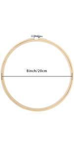 Pieces EPieces Embroidery Hoops Set Bamboo Circle Cross Stitch Hoop Ring 8 inch for Large Embroidery