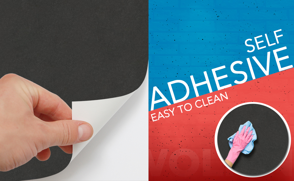 solid black color wall stickers wallpaper, anti oil, decal, easy to clean, DIY, Self adhesive PVC