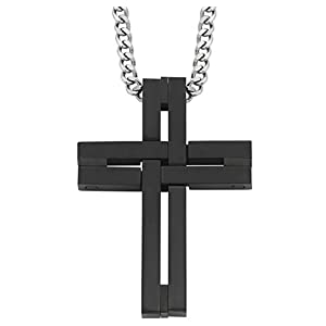 Free Gift Box Details about  /Men Women 316L Stainless Steel Charm Cross Pendant Necklace
