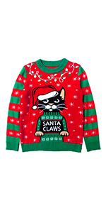 Santa Claws Cat Ugly Christmas Sweater xmas x-mas chrismas