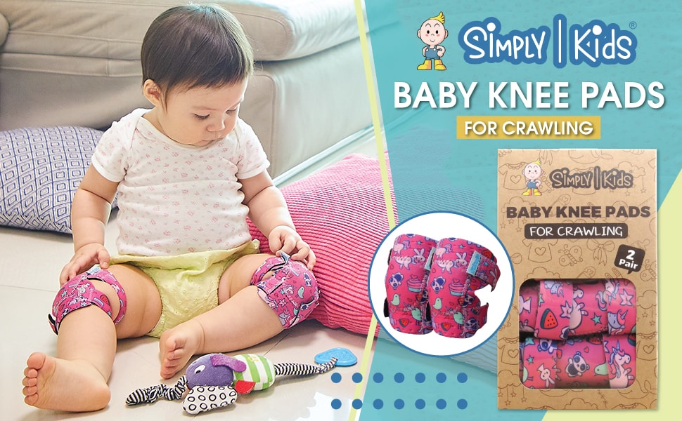 Baby Knee Pads for Crawling 2 Pairs Breathable Toddlers Leg Warmer for Learning to Walking