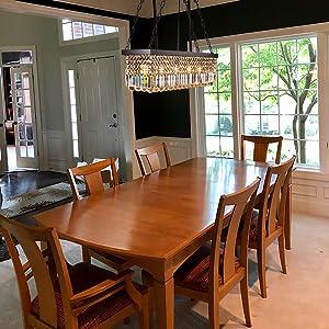 modern dining room black crystal chandelier pendant ceiling lighting fixture