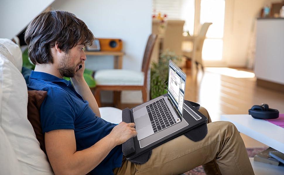 Lap Desk - Laptop Bed Laptop Desk with Mouse & Wrist Pad for Notebook, MacBook, Tablet