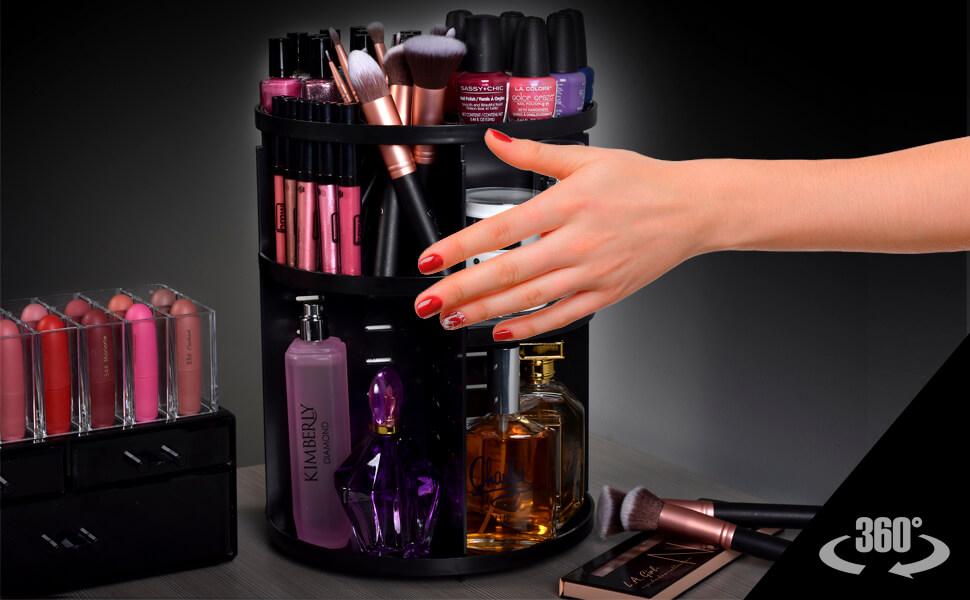 organize estuches organier acomodador lori genious mirrored organizador maquillaje