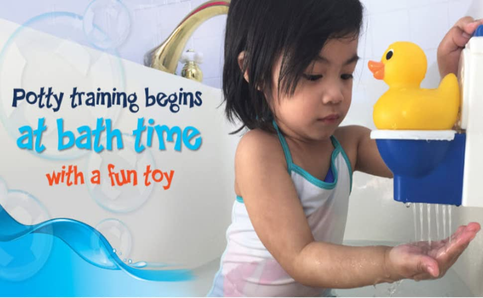 potty training bath toy rubber duck squirt toddler Potty duck learning teaching