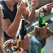 Wine Gift Adult Comes with Bottle Lock Challenges Brain Teaser and Designs of Classic Unique