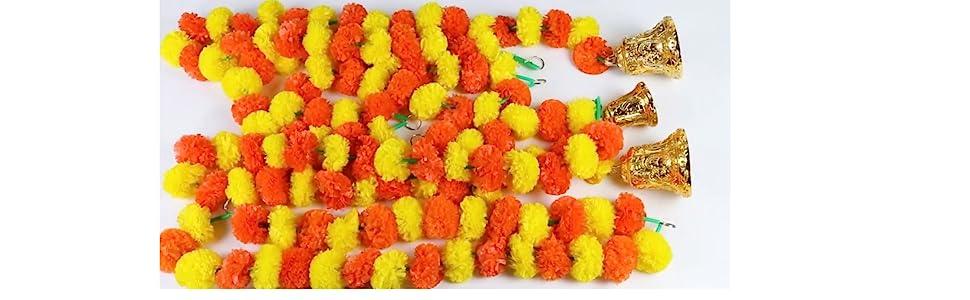 marigold genda golden bells door decoration
