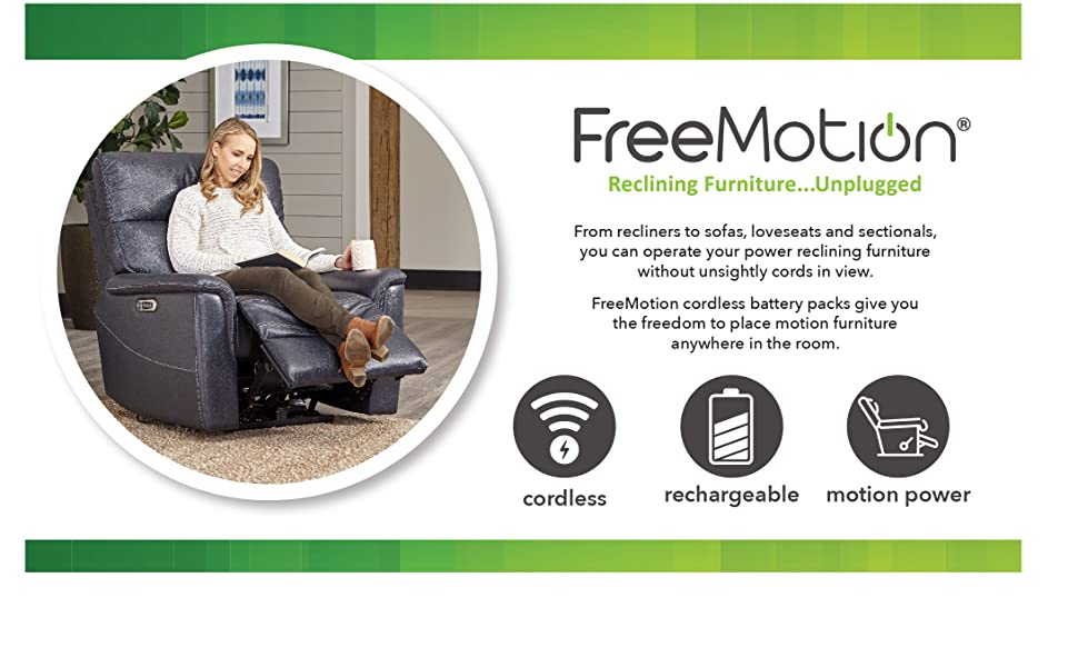 Freemotion Free motion cordless battery recliner reclining sofa chair p25 p50 p75 rechargeable