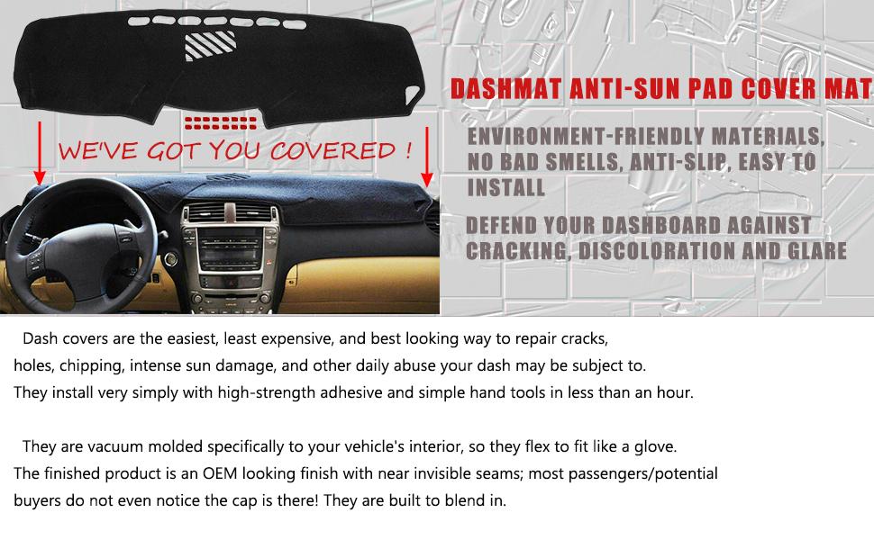 DASHBOARD DASHMAT ANTI-SUN PAD COVER MAT FIT 2006-13 LEXUS IS 250 350 IS F