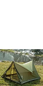 trekker tent 2 person light ultralight backpack outdoors outside winter summer sprint trekking poles