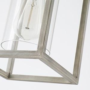 vintage cage hanging light