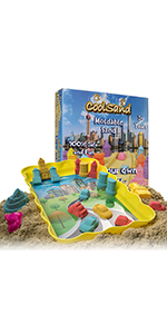 CoolSand Deluxe Bucket Mini City Edition Play Sand Kit for Kids