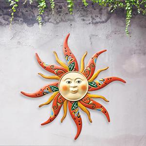 Outdoor Sun Metal Decor