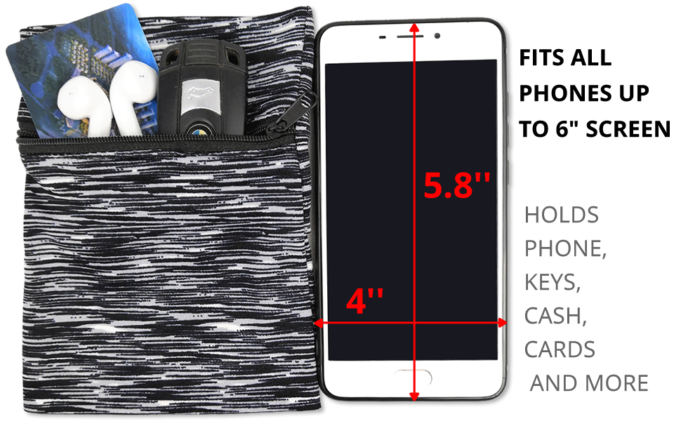 """FOPOR RUNNING ARMBAND WRISTBAND FITS ALL PHONES UP TO 6"""" SCREEN"""