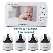 Babysense video monitor two cameras pair up to 4