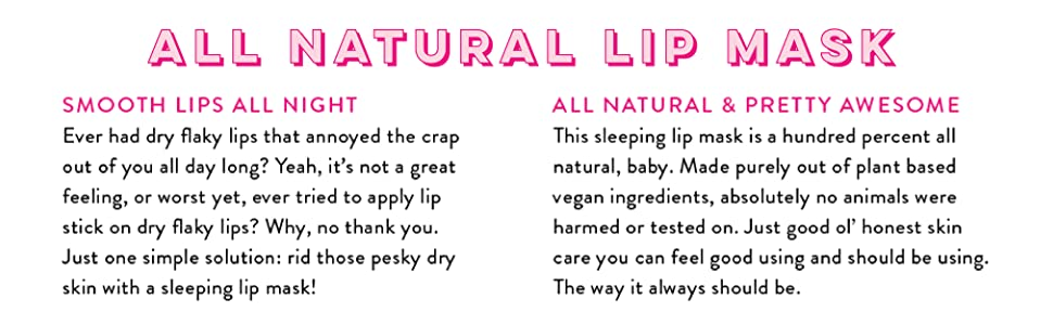handmade heroes amazon sleeping lip mask vegan natural scrub exfoliator balm butter chapstick