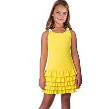 Girls yellow tennis dress