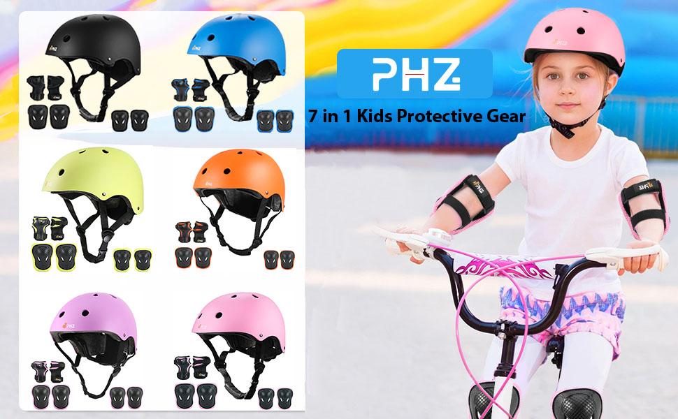 新品   PHZ. Kids Adjustable Bike Helmet Toddler Helmet for Kids 3-8 Years Girls Boys girls