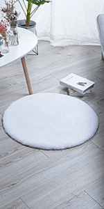 faux rabbit rug