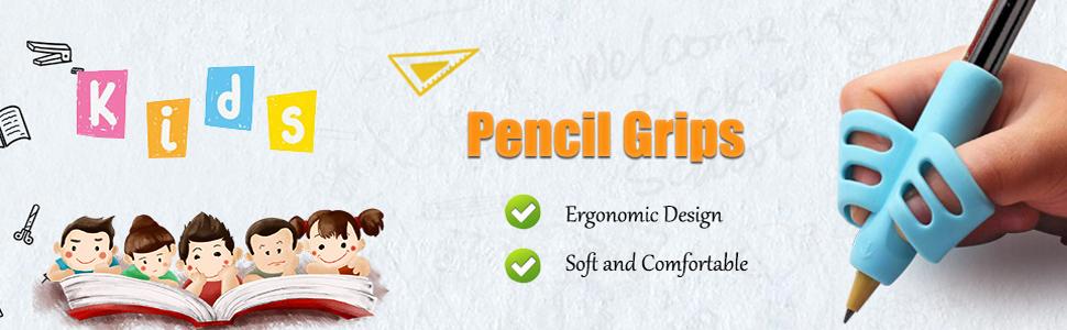 Ergonomic pencil grips
