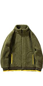 Classic Cotton Jacket Coat Fleece Lined Windproof Outerwear