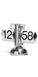 White Auto Flip Clock