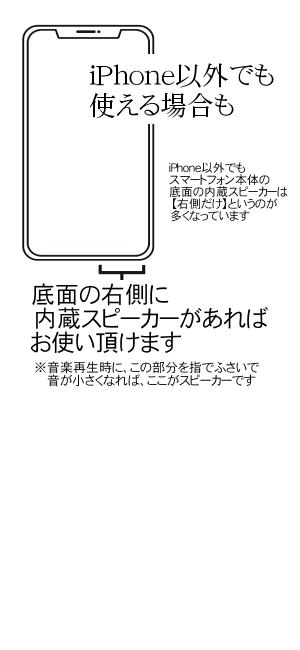 スマートフォン スピーカー位置