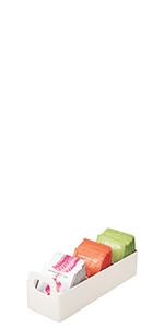 Small Plastic Kitchen Pantry, Cabinet, Countertop Organizer Storage Station Tea Caddy Holder