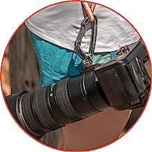 camera, carabiner, tripod mount, climbing, climbing gear, fitness, slr, camera strap, camera sling