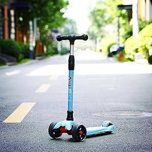 allek scooter B02 aqua blue purple boy girl lean to turn