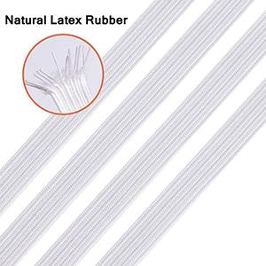 elastic bands for sewing masks 1/4 inch elastic for sewing elastic cord rope for mask elastic white