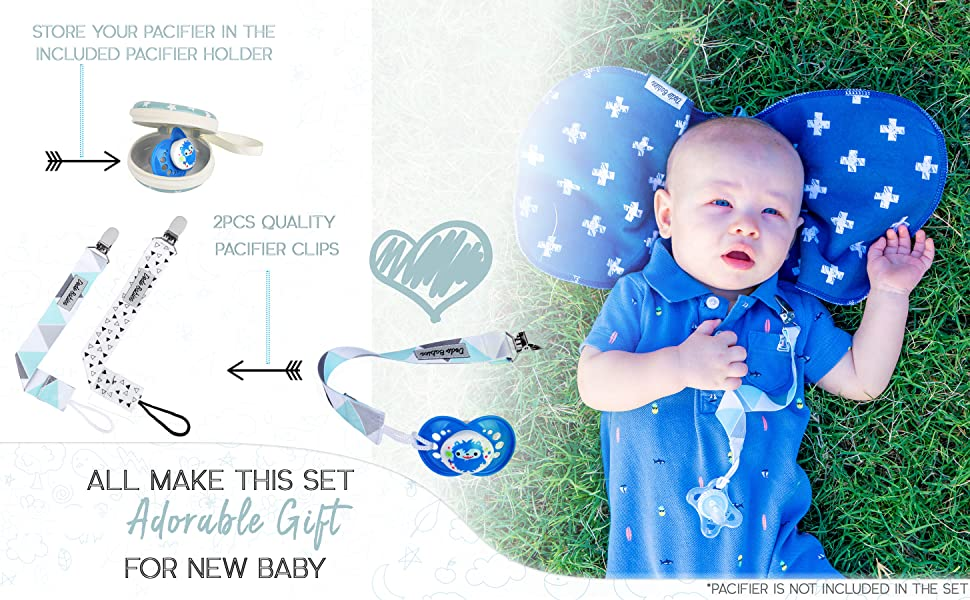 Sport Full Set Handmade Infant Booties Bib Mittens Pacifier Clip Mittens Burp cloth