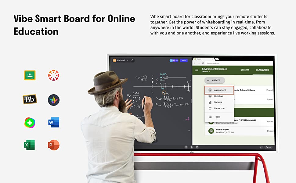 Vibe Smart Board for Online Education