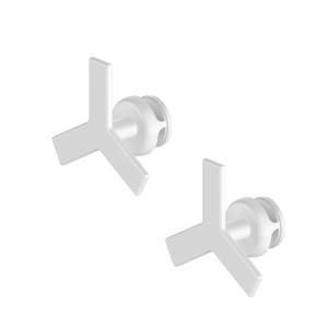 Blanc Paire de Handy Drop Lames Se fixe directement sur le radiateur s/èche-serviettes Pat/ères pour s/èche-serviettes /à lames plates