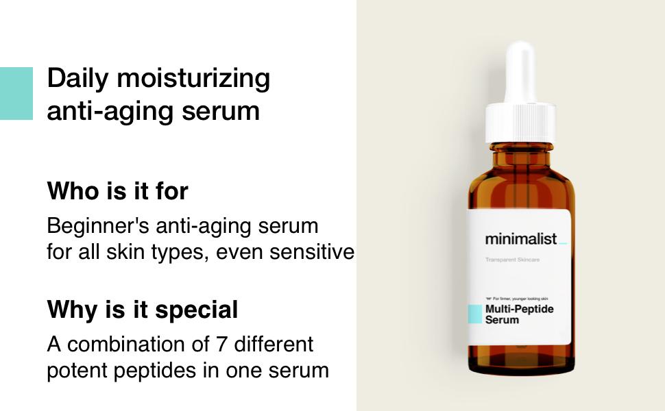 Minimalist Multi Peptide Serum