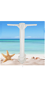 beach umbrella sand anchor  umbrella anchor  beach umbrella holder STAND screw anchor dirt auger RIO