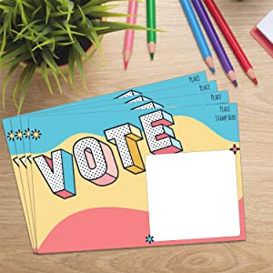 Voter Postcards Get Out the Vote for Democrat and Republican Campaigns