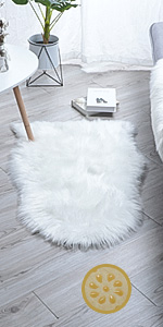 New 2019 Upgraded Non-Slip Faux Fur Rug