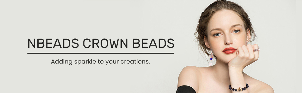 NBEADS CZ Crown beads
