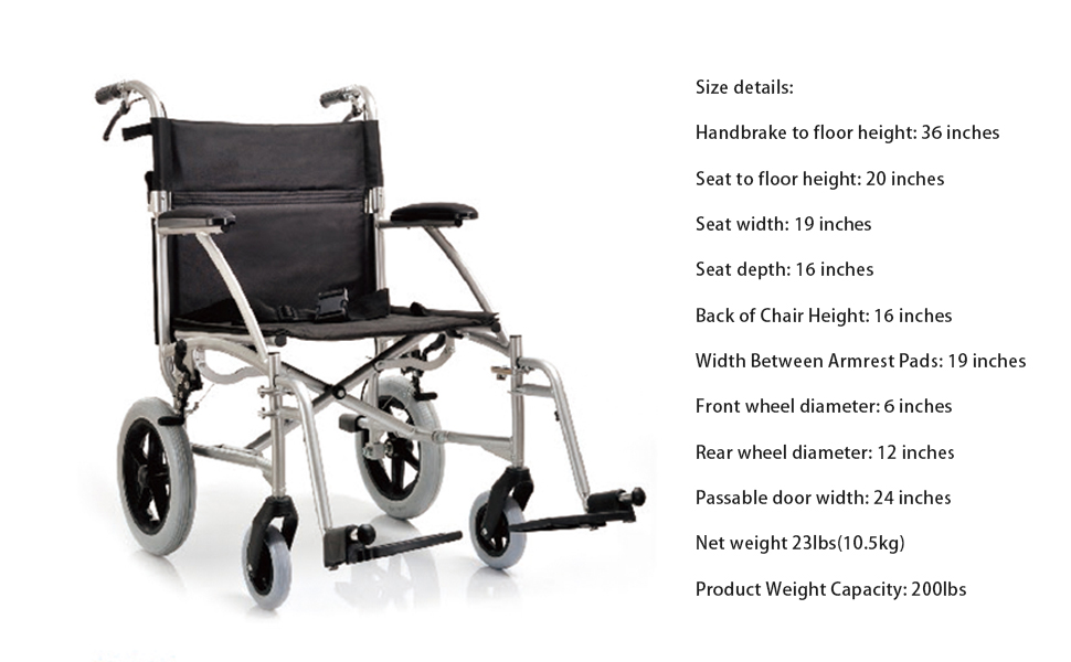 Fantastic Amazon Com Yuwell Ultra Lightweight Transport Adult Folding Bralicious Painted Fabric Chair Ideas Braliciousco