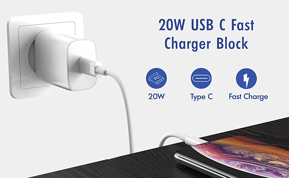 20 W USB C FAST CHARGER BLOCK
