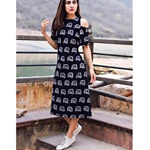 dress for women latest design 2019 2020 indian stylish western knee length cotton girls ladies black