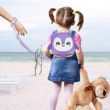 Penguin backpack + wrist link.