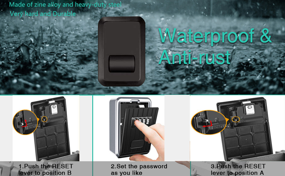 Weatherproof Key Safe Box for Home, Business