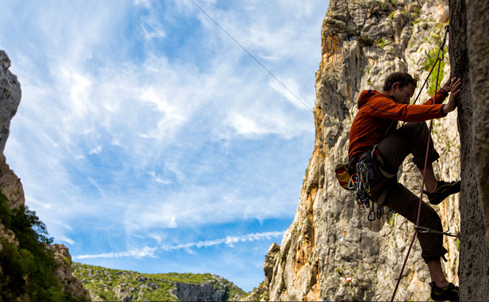 UBaymax Bloqueadores de Escalada para Montañismo,Dispositivo de Escalada con Gears,Rescate Equipo de Escalada,Abrazadera de Cuerda Vertical para ...