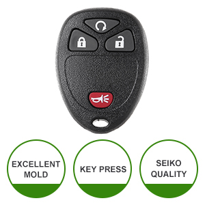 SCITOO 2pcs 4 Buttons Keyless Entry Remotes Car Key Fob Replacement fit 2007-2016 GMC Buick Chevy Cadillac Saturn Suzuki FCC OUC60270 OUC60221
