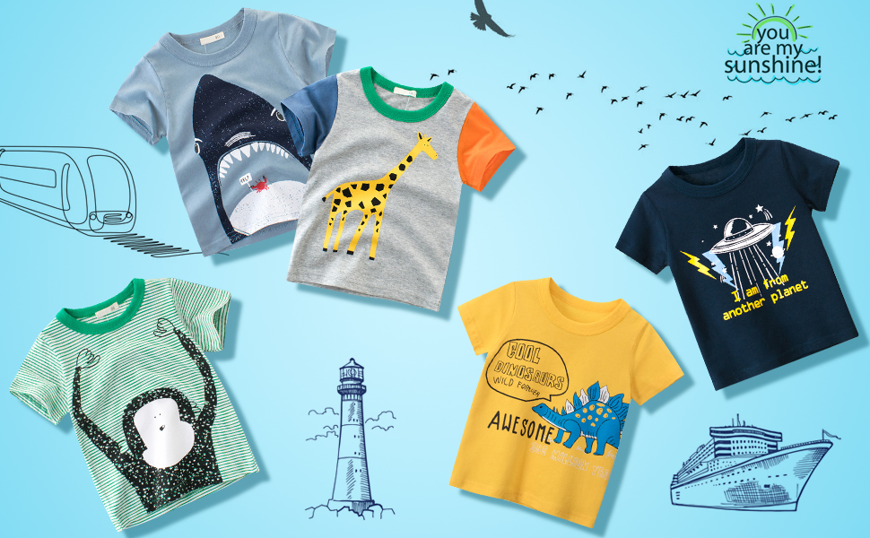 Let your kids in style and show off their personality with DEEKEY T-shirts.
