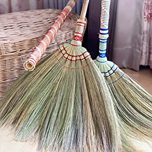 Soft fan broom stylish broom wide broom 39 jumping broom for wedding asian broom and dustpan