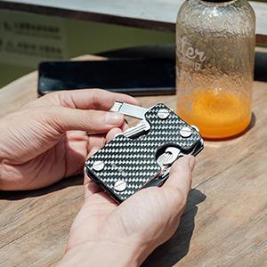 carbon fiber key holder