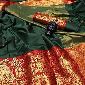 Green Aura Silk Saree